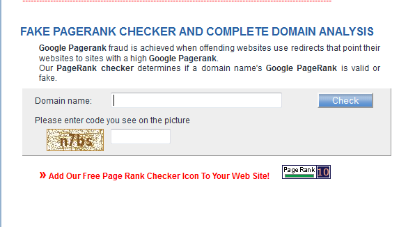 fake pagerank