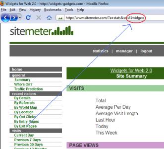 Gunakan sitemeter untuk Melacak Traffic Blog Anda