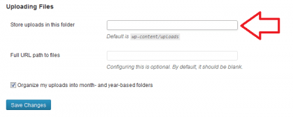 uploading files wordpress
