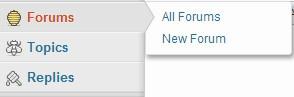 menu forums bbpress